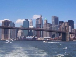 New York Harbor and the Brooklyn Bridge